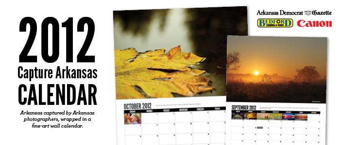 Capture Arkansas 2012 Wall Calendar